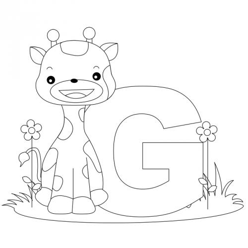 Alphabet Coloring Pages G Kidspressmagazine Com