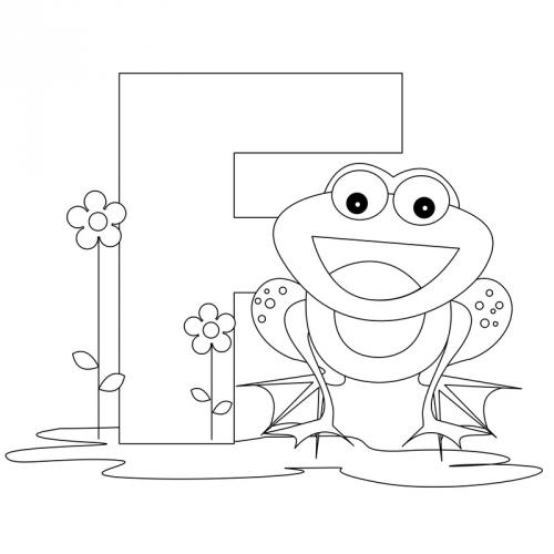 Alphabet Coloring Pages – F - KidsPressMagazine.com