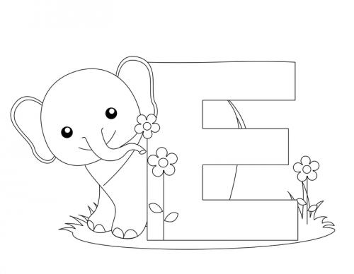 Alphabet Coloring Pages – E - KidsPressMagazine.com