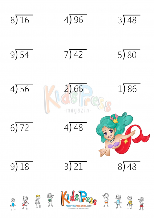 Division Fact Up To 9 With 2 Digit Dividends Kidspressmagazine. Division Fact Up To 9 With 2 Digit Dividends. Worksheet. 2 Digit Divisor Division Worksheets At Clickcart.co