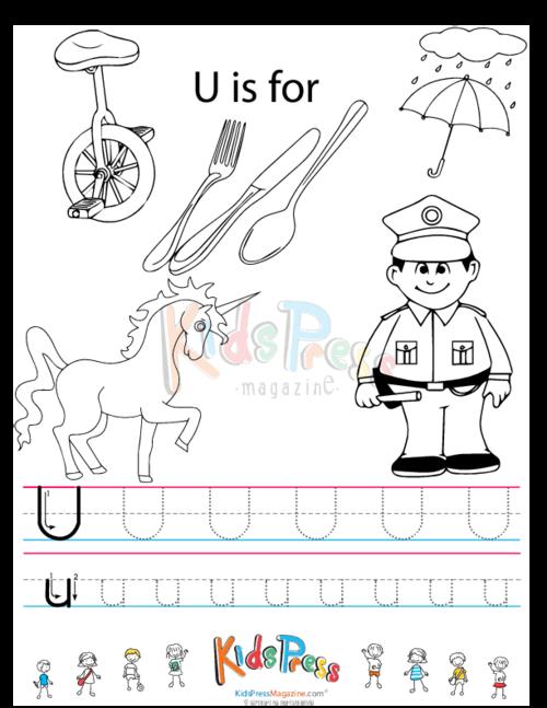 Pics Photos - Little U Tracing Worksheet U Is For Umbrella