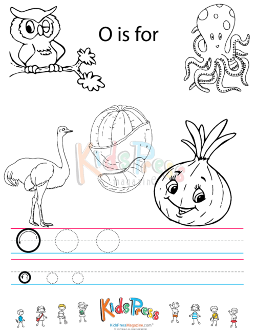 Alphabet Tracing Worksheet – O - KidsPressMagazine.com
