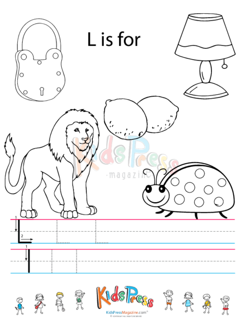 Pics Photos - Little L Tracing Worksheet L Is For Lemon