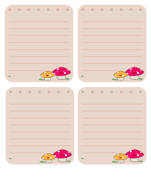 printable note cards for kids 2 - Printable Note Cards