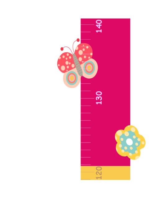 picture relating to Printable Height Chart identify Flower Peak Chart -