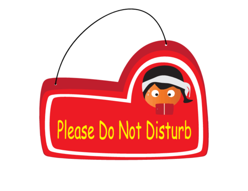 This is a graphic of Printable Do Not Disturb Signs regarding housekeeping