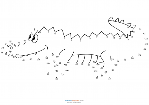 Connect the dots – Alligator - KidsPressMagazine.com
