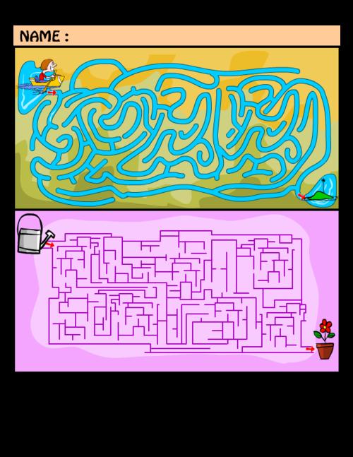 Hard Maze Puzzles 2 Kidspressmagazine Com