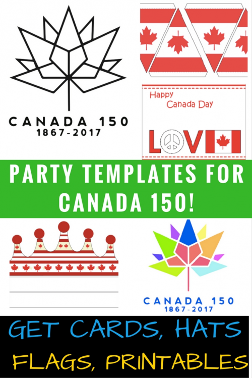 Canada Day Printable Decorations Party Hat Template