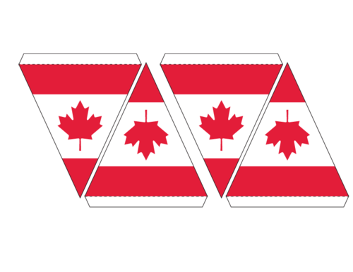 Canadian Flag Maple Leaf Bunting