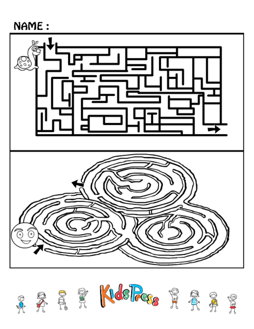 It's just an image of Printable Mazes Medium regarding kids