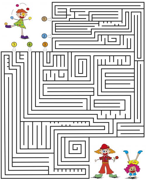 medium kids maze games clowns kidspressmagazine com
