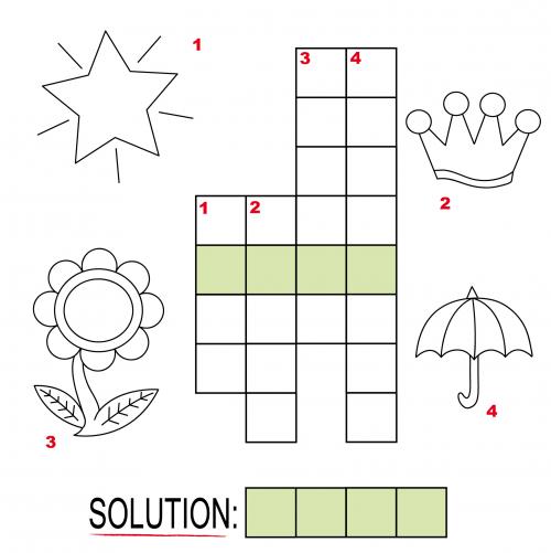 Crossword Puzzles for Kids #4 - KidsPressMagazine com