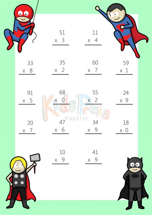 Teaching Two Digit Multiplication Lawteched – Two Digit by One Digit Multiplication Worksheet