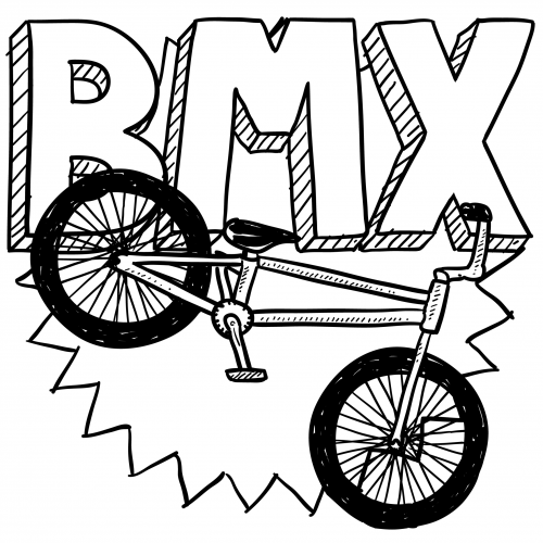 Bmx Colouring Pictures BMX Racing Bike Coloring Page KidsPressMagazinecom
