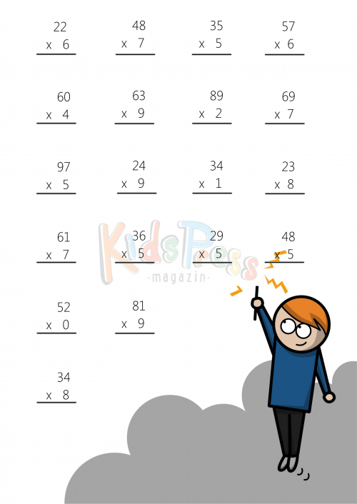 Multiplication Worksheets 2 by 1 multiplication worksheets – Multiplication Worksheet 2 Digit by 1 Digit
