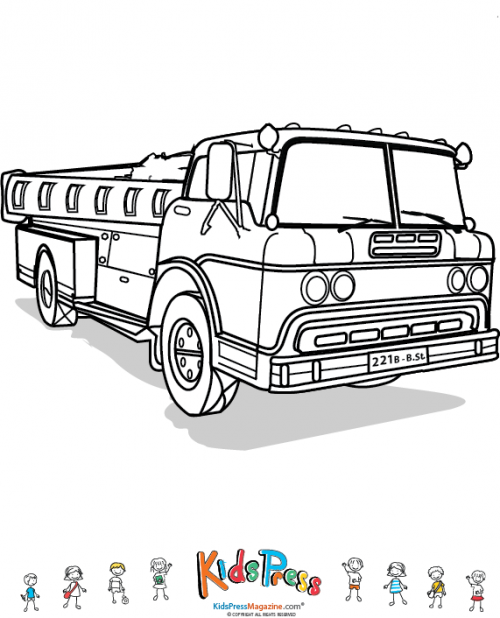 Fire Truck Template | Fire Trucks Police Ambulance Archives Kidspressmagazine Com