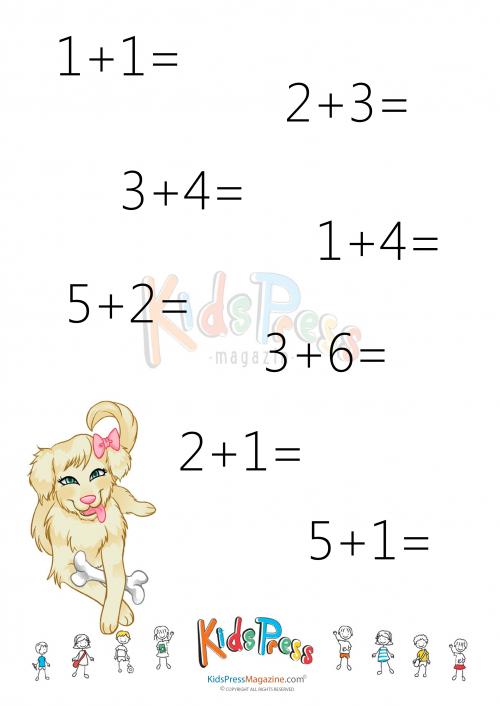 Addition Facts Worksheet: Add to 10 - #3 - KidsPressMagazine.com