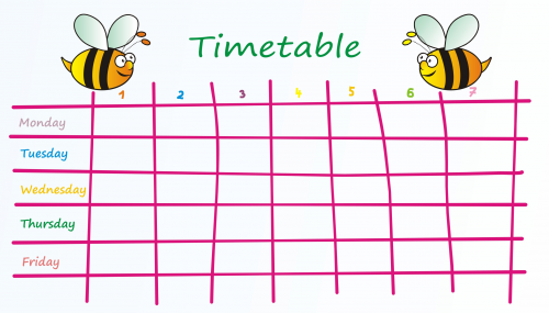 Weekly schedule printable for Weekly schedule template for kids