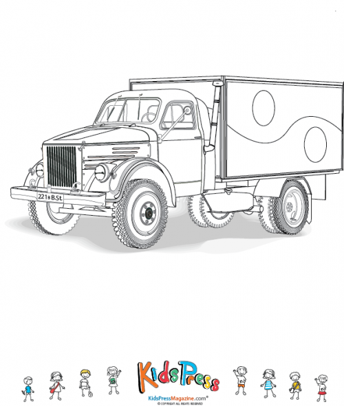 box truck coloring pages - photo#3