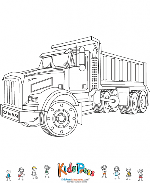 Chuck The Dump Truck Coloring Pages Pictures To Pin On
