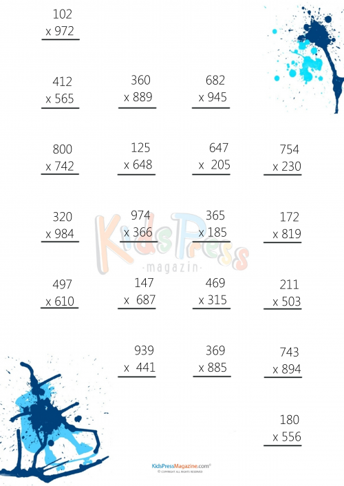 3 Digit By Multiplication Worksheet 7 Kidspressmagazine. Get It Now. Worksheet. Mulitplication Worksheet At Mspartners.co