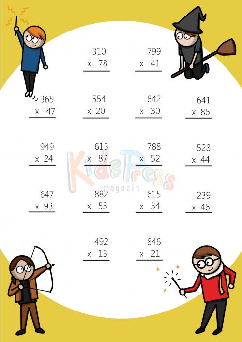 Multiplication Worksheets : 3 digit multiplication worksheets ...