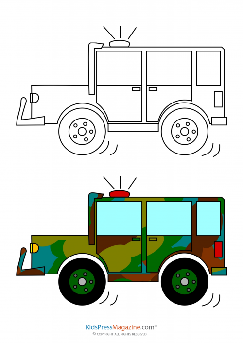 Jeep Coloring Page Kidspressmagazine Com