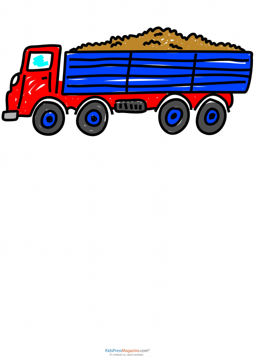 how to draw a bedab truck