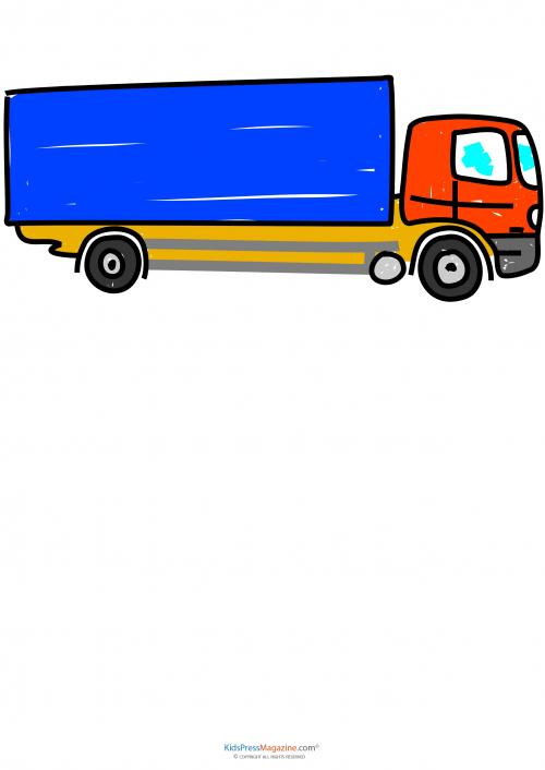 Learn To Draw Moving Truck KidsPressMagazinecom