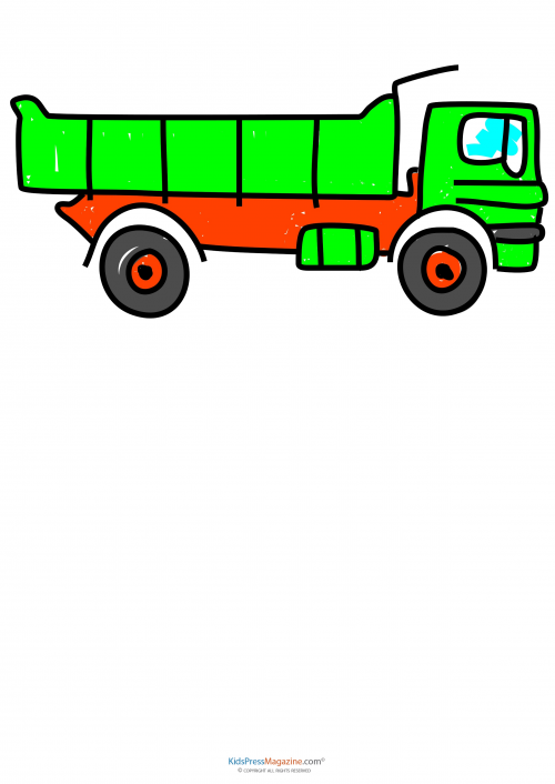 Learn To Draw - Construction Equipment Dump Truck 2 ...