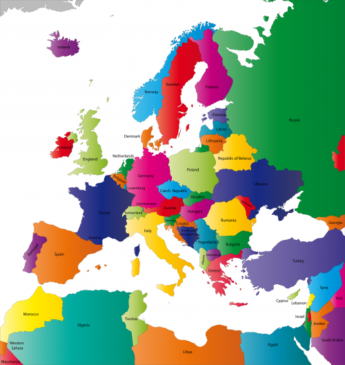 Map Of The Continent Of Europe With Countries Kidspressmagazine Com