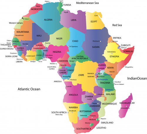 Map of Africa with Countries and Capitals - KidsPressMagazine.com
