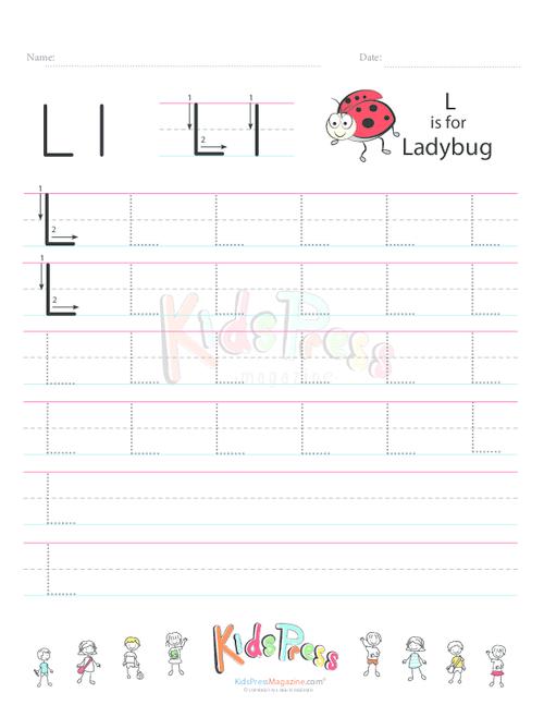 Handwriting Worksheet Letter L