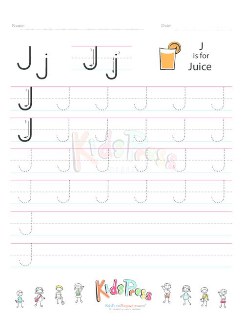 Handwriting Worksheet Letter J Kidspressmagazine
