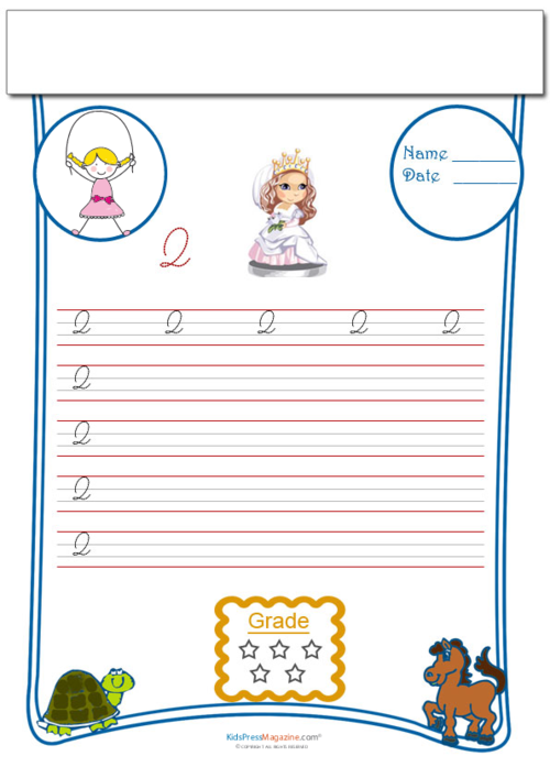 Cursive writing worksheet letter q kidspressmagazine one of the hardest cursive letters to remember is the upper case q teach your child to properly write a cursive q upper case and use this worksheets expocarfo Choice Image
