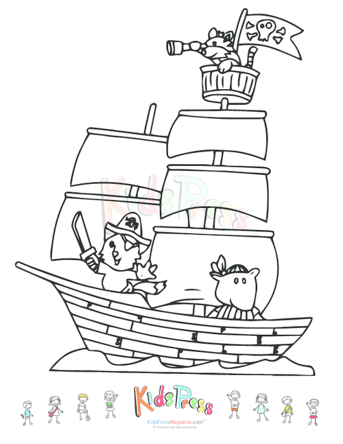 pirate ship coloring pages printable pirate ship coloring page 630x470