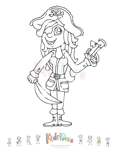 Printable Coloring Page Girl
