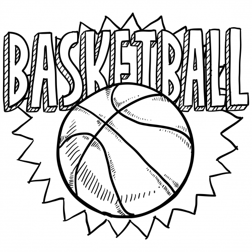 Sports Coloring Pages – Basketball #2 - KidsPressMagazine.com
