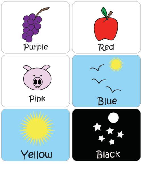 graphic relating to Colors Flashcards Printable called Discovering Shades Flashcards #1 -