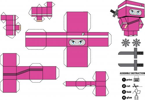 paper crafts foldable ninja girl   kidspressmagazine