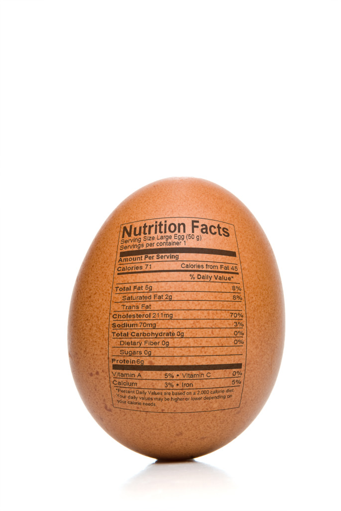 One large (53g) Grade A egg contains 6g of protein and only 70 calories.
