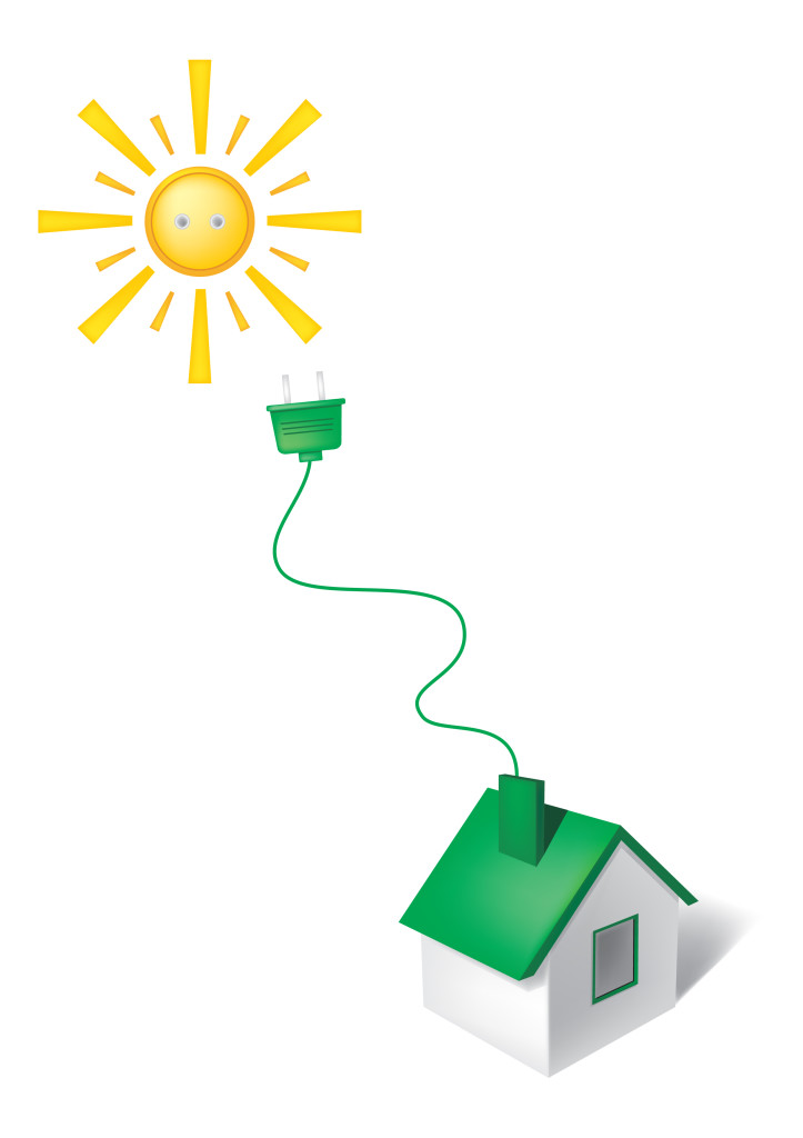 Solar panels do not produce any carbon dioxide emissions when converting solar power into electricity.