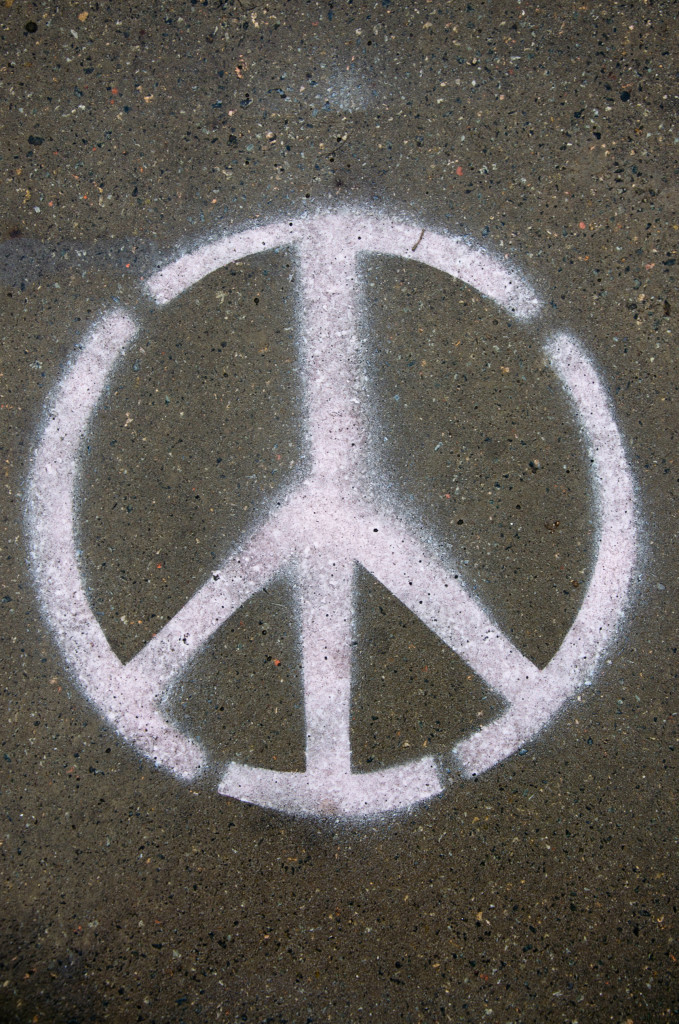 The peace symbol was initially an anti-nuclear weapons symbol.