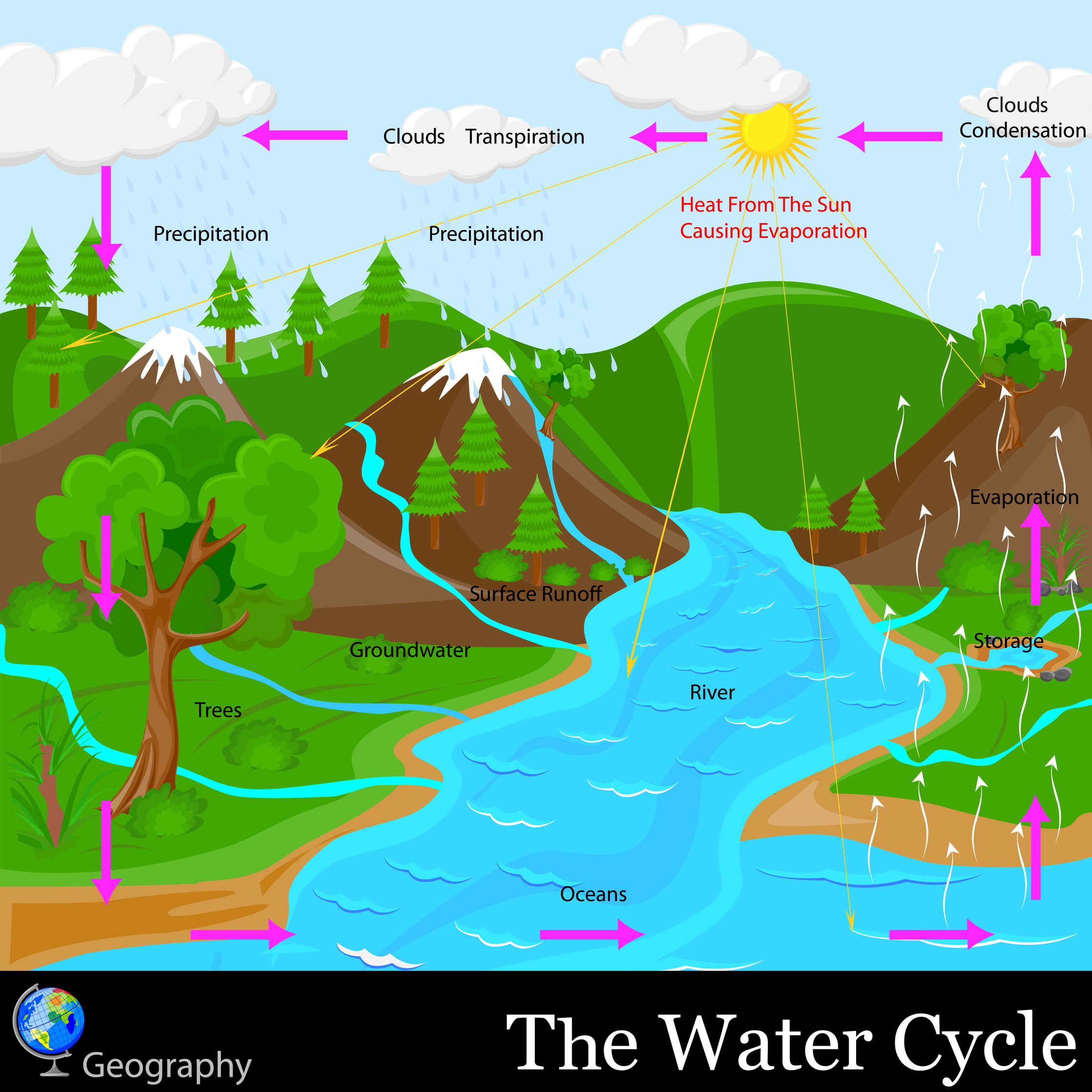 1 Evaporation Heat Normally From The Sun Can Turn Water A Liquid Into Gas Called Vapor Happen Any In World